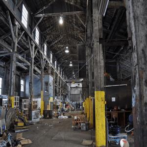 messy warehouse