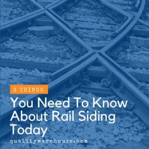 3 Things You Need To Know About Rail Siding Today
