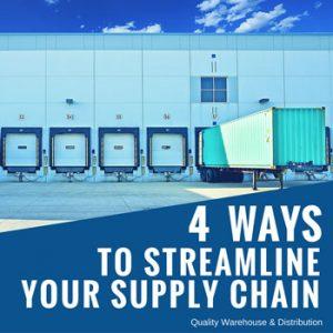 Four Ways to Streamline Your Supply Chain
