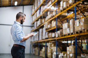 man choosing his types of logistics services